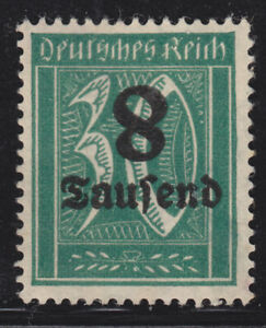 Germany - 1923 - inverted surcharge 8 - mint