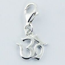 Silver charm 925 sterling silver om charm lobster clasp 21mm height ohm new look
