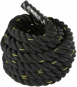 CORDA Fitness Allenamento FUNE Power CrossFit Battle Rope 12 metri x 38 mm TOMSH
