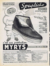 PUBLICITE ADVERTISING 074 1957 MYRIS souplècho super 58