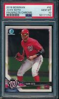 PSA 10 JUAN SOTO 2018 Bowman Chrome Prospects Nationals Rookie Card RC GEM MINT