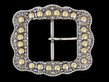Western Cowboy/Cowgirl Rodeo Decor Engraved Antique Silver/Gold Buckle 1 1/2""