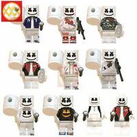 Set of 10pcs Marshmello Rare Skin Lego Characters Moc Minifigure Toys Gift Kids