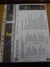 08/02/2014 Colour Teamsheet: Norwich City v Manchester City  . Thanks for viewin