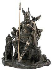Veronese Bronze Figurine Religious Norse Mythology God Odin Viking Vikings