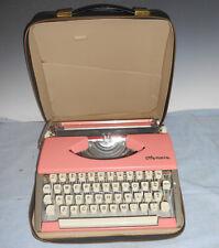 Clean Vintage 1960's Portable Pink Olympia Typewriter