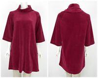 Womens Marimekko Mika Piirainen Kirjo Tunic Shirt Velour Velvet Pink Size M