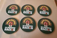 6 x John Smiths metal Beer Mats Coasters No Nonsense Racing Good Condition