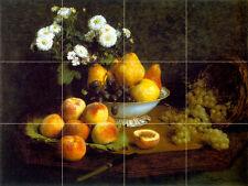 Art Henri Latour Grape Fruits Mural Ceramic Backsplash Tile #862