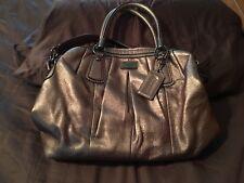 COACH Kristin 15339 Pleated Tote Bronze Metallic Satchel Handbag Shoulder Bag