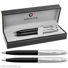 Sheaffer 100 Series Brushed Chrome / Black Ballpoint Pen/Pencil Set  (E9931351)