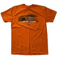Tony Stewart #20 Mens Nascar T-Shirt Size M Orange 2006 Nextel Cup Series