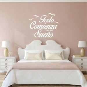 Spanish Wall Decal Vinyl Stickers Motivation Quote Kids Bedroom Art Decoration