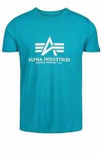 ALPHA INDUSTRIES Logo Basique T-Shirt Lagon