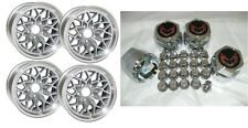 15X8 TRANS AM WS6 SNOWFLAKE WHEELS / CENTER CAPS / LUG NUT SET - SILVER / GRAY