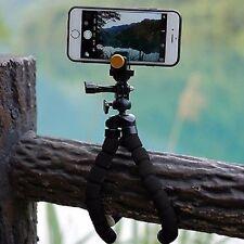 NOIR Flexible Octopus Support Trépied Pince Pour Smartphone Universel Caméra