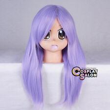 Lolita Women Light Purple 55CM Long Straight Anime Halloween Cosplay Party Wig