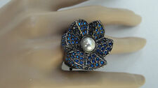 Mimco Sacred Crystal Cocktail Ring Size Large RRP$129.00