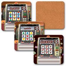Coaster Cork Las Vegas Slot Machine Animated Lenticular 4 pcs. #COS40X40-951-S4#