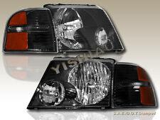 02 03 04 05 Ford Explorer Headlights JDM Black + Black Corner Lights
