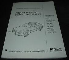 Technische Neuheiten Opel Cabrio Edition Astra E Vectra Senator B Calibra 1992