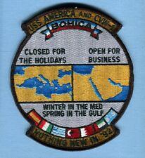 CV-66 USS AMERICA CVW-1 BOHICA 1992 US Navy Ship Squadron Cruise Jacket Patch
