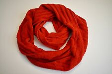 J Jill Infinity Scarf Perfect Red Chenille Cable NEW One Size Soft Feel Light