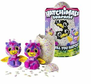 HATCHIMALS SURPRISE (Giraven) Pink Egg TWINS Playset FAST SHIPPING