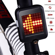 USB Rechargeable LED Tail Light Turn Signal Rear Brake Lamp E-bike Bicycle Night