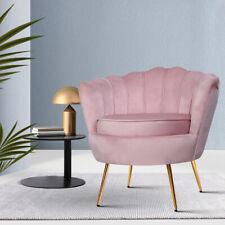 Artiss UPHO5002VELPK Armchairs Retro Single Sofa Velvet Pink