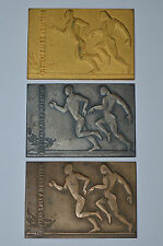 "Croatian Athletics Federation 1967 ""gold silver bronze"" plaque vintage rare"