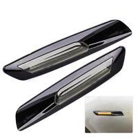 2X Amber LED Seitenblinker Blinker für BMW 1 3 5 er E60 E61 E82 E88 E90 E92 E93