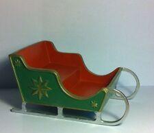 Santa's carriole, poupées maison miniature Xmas NOËL temps hols