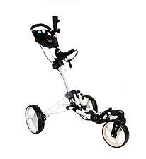 Golftrolley Yorrx® SL Pro 7 HAMMA TOPSET+Tasche uvm. *weiß/white* 360° TOP SPIN