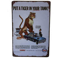 Esso Tiger in your Tank Sign Petrol Oil Shed Bar Garage Man Cave 30cmx20cm