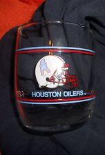 VINTAGE HOUSTON OILERS NFL FOOTBALL GLASS CLASSIC STYLE ROCKS GLASS LOVE YA BLUE