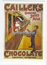 ad0533 - Caillers Chocolate - Lady On A Train -  Modern Advert Postcard