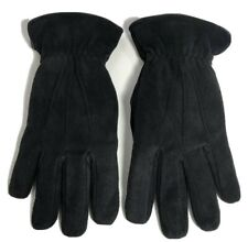 Nordstrom Mens Shop Suede Thermolite Gloves S/M Fleece Lined Black New