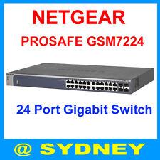 Netgear ProSafe GSM7224 24 Port Gigabit L2 Managed Network Switch M4100-24G