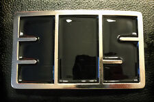Miami 305 Belt Buckles made by Dirty Dade Gear. Glossy Black with Silver Trim.