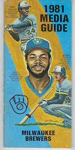 1981 Milwaukee Brewers media guide Ben Oglivie Cecil Cooper Robin Yount vintage
