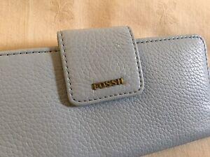 NEW Fossil Madison Clutch Horizon Blue Women's Purse Long Wallet RRP£59