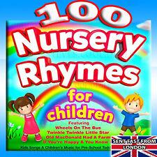UK 100 Kids Nursery Rhymes Childrens Music for Preschool Toddlers & Babies 2 CDs