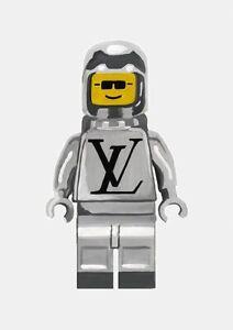 LegoMan Print - Silver - Home Decor Wall Prints A4 Size