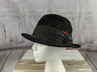 Dobbs twenty mens fedora hat 7 1/8 feather fashion black