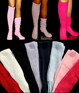 12 SLOUCH Knee Scrunchie Socks large heavy Hooters Uniform School Athleisure