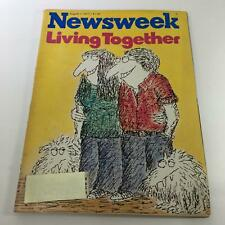 Newsweek Magazine: August 1 1977 - Living Together - Cartoons on Cover