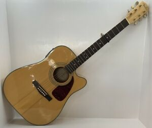 Fender DG-22CE NAT 6-String Natural Acoustic Electric Guitar (Please Read)