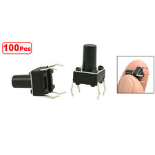 100 6x6x9,5mm PCB momentaneo tattile tatto interruttore a pressione 4Pin DIP HK