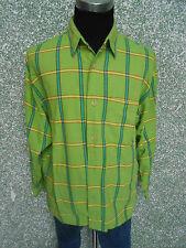 180 109 SIGNUM Casual camicia TGL M KIWI VERDE ROSSO a quadri maniche lunghe